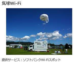 ソフトバンク電波改善 気球Wi-Fi