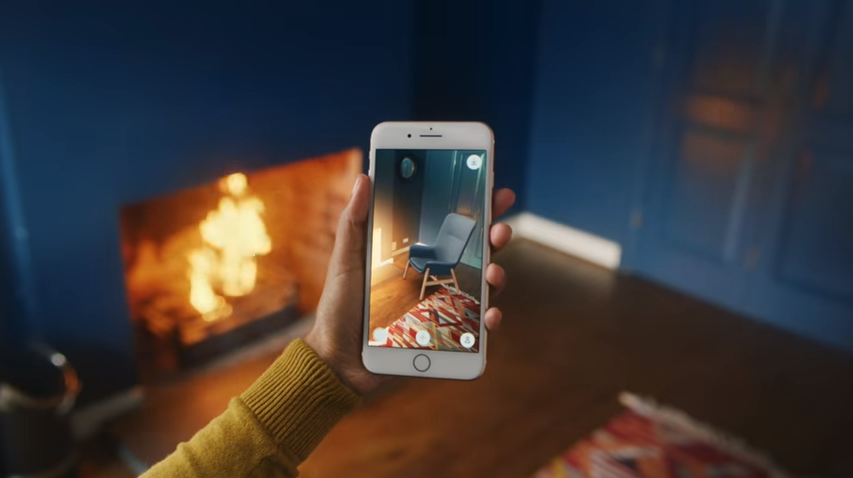 IKEAPlaceというアプリは家具を配置して好きな角度で確認できる