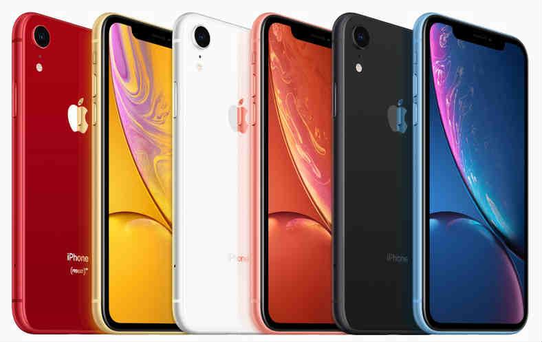 iPhoneXRのカラーバリエーション